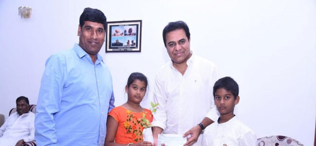 10-year-old girl donates Rs 1 lakh to CM Relief Fund