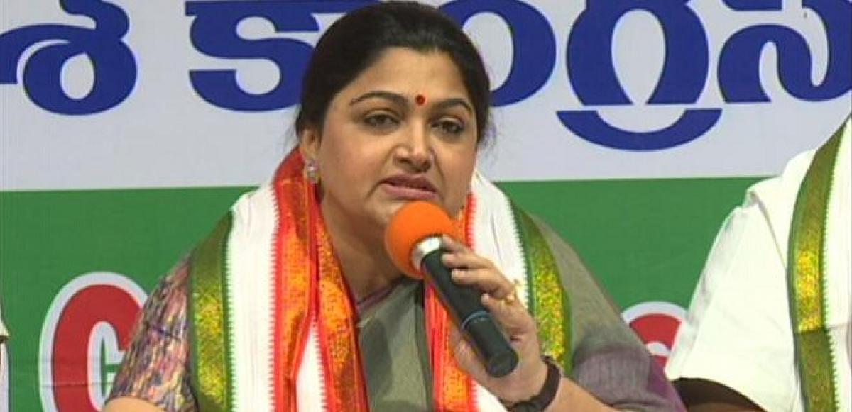 KCR failed to deliver, behaves like naya nawab: Congress Khushbu Sundar