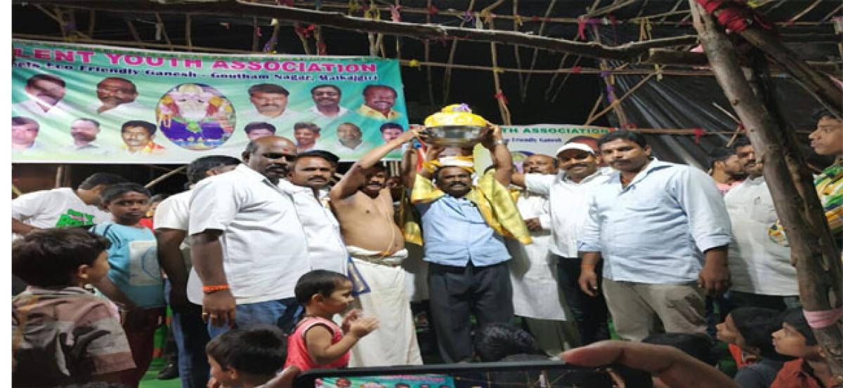 TYA adopts eco-friendly method to immerse Ganesh idol