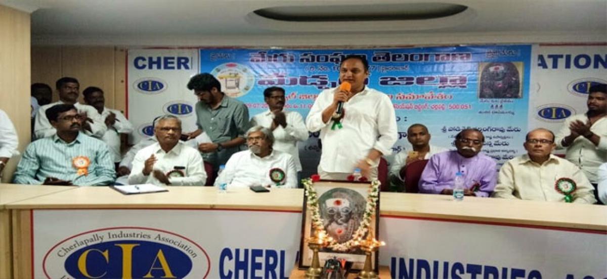Congress leader Bandaru demands 2BHK houses for meru community