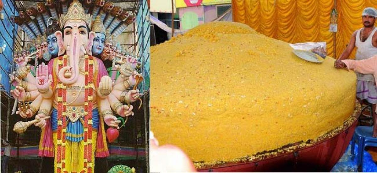 580 kg laddu reaches Hyderabad for Lord Ganesha