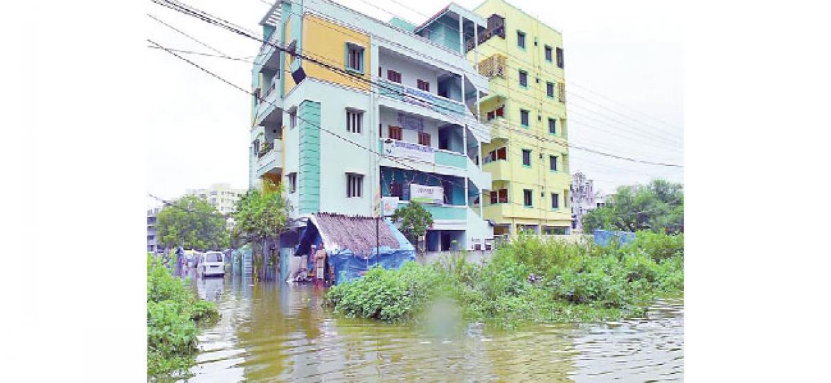 Due to heavy rainfall Deepthi Sree Nagar hit hard