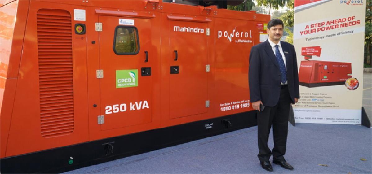 Mahindra Powerol unveils new genset range
