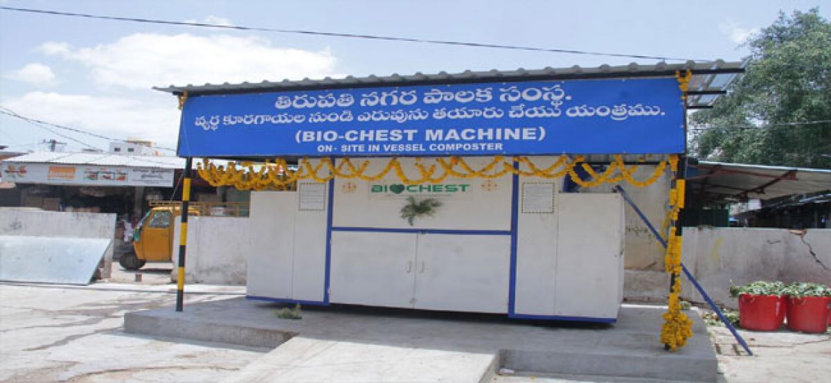 Municipal Corporation of Tirupati  sets up bio-chest unit