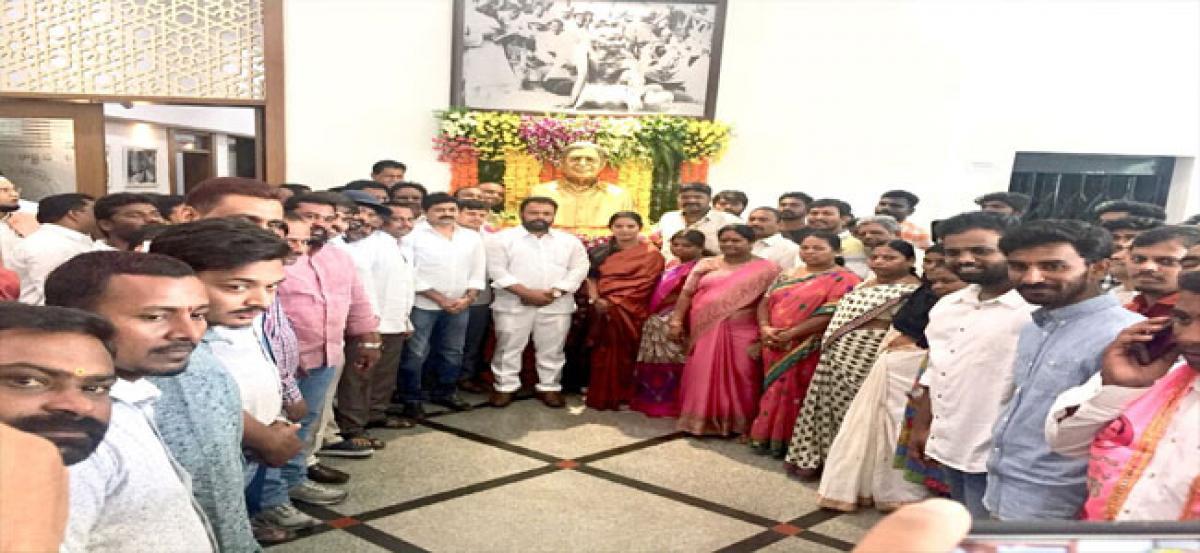 TRS pay tributes to Prof Jayashankar