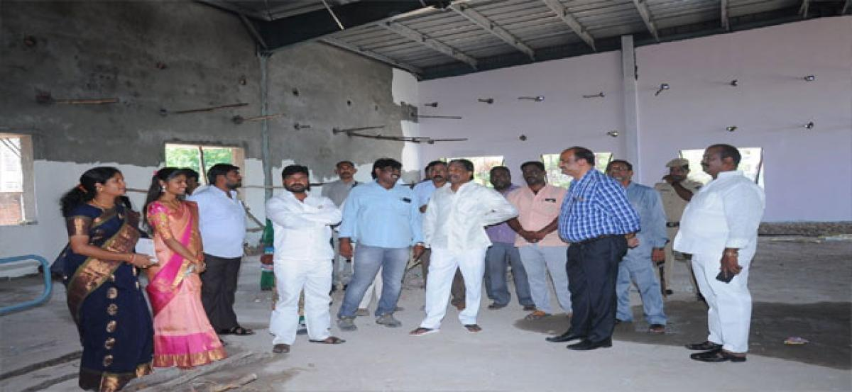 Minister inspects multipurpose hall