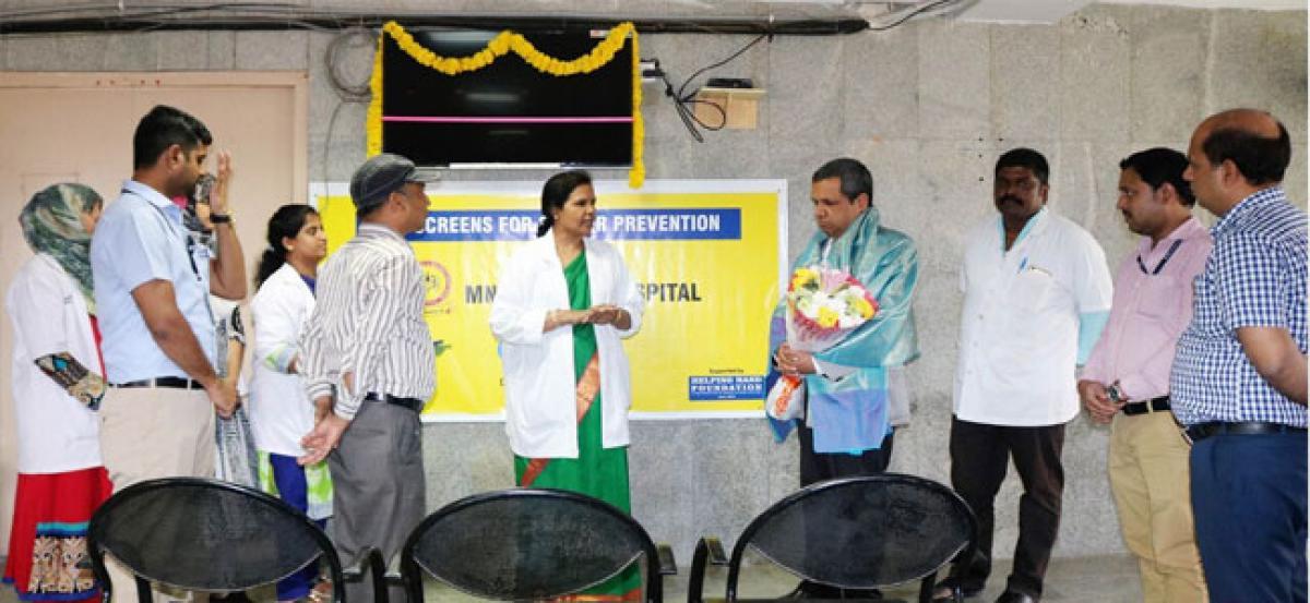 MNJ Hospital gets new LED screens under CSR initiative