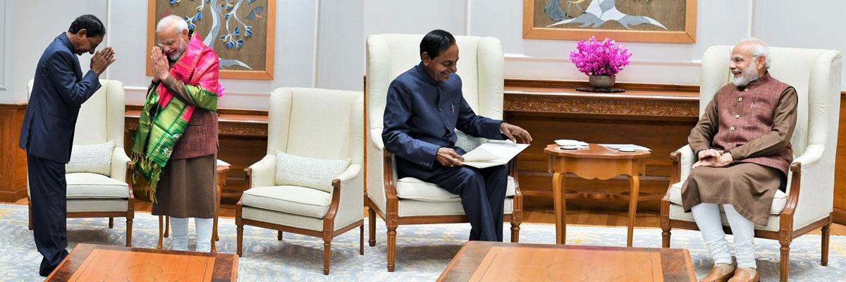 Telangana CM KChandrashekar Rao meets PM Narendra Modi in Delhi