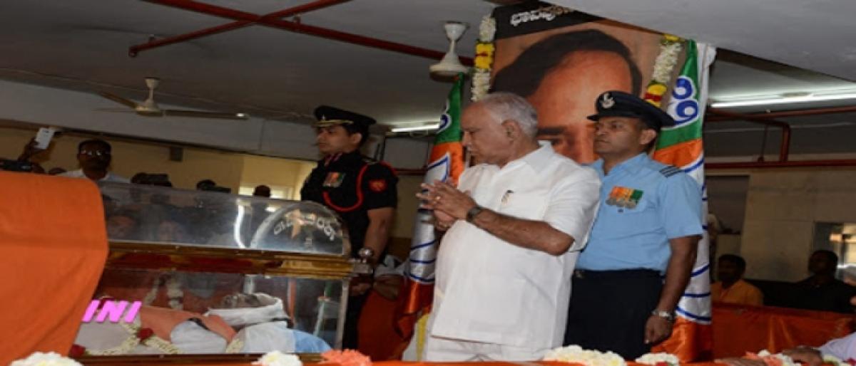 BJP bids final goodbye to Ananth Kumar