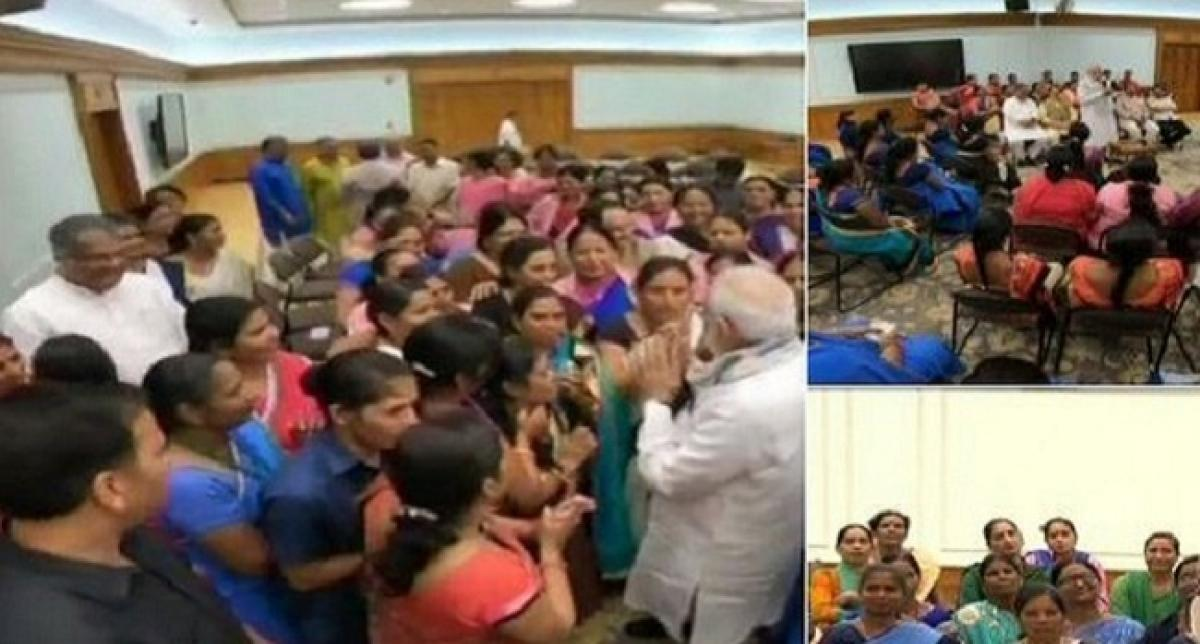 PM Modi meets Asha workers from across the country