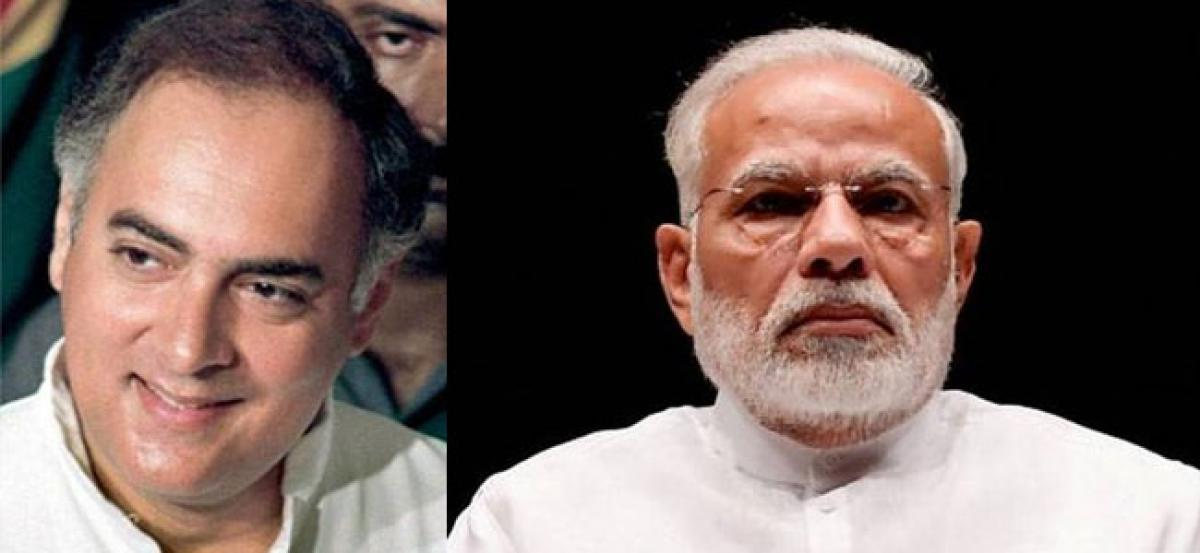 Narendra Modi pays tributes to Rajiv Gandhi on his 74th birth anniversary