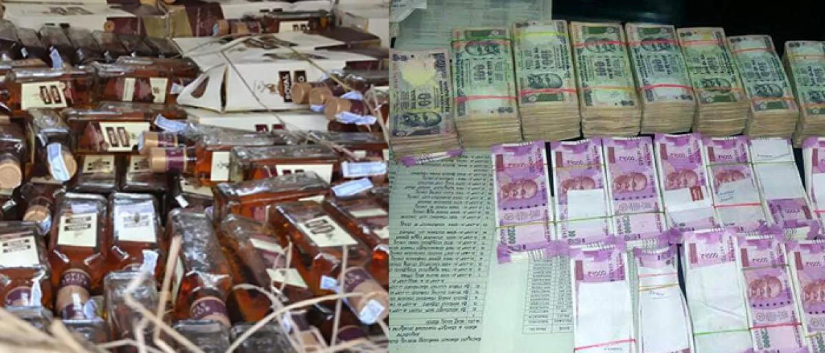 Telangana elections: Over Rs 80 cr cash, Rs 6 cr worth liquor seized