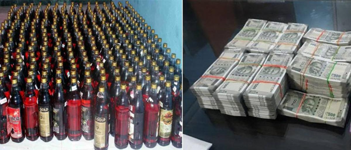 Cash worth 56.48 cr and 19,52,66.01 litres of alcohol seized by the EC.