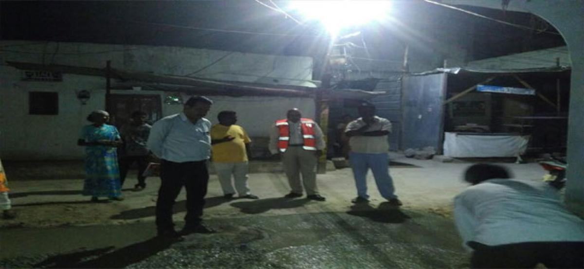 MLA inspects CC road works