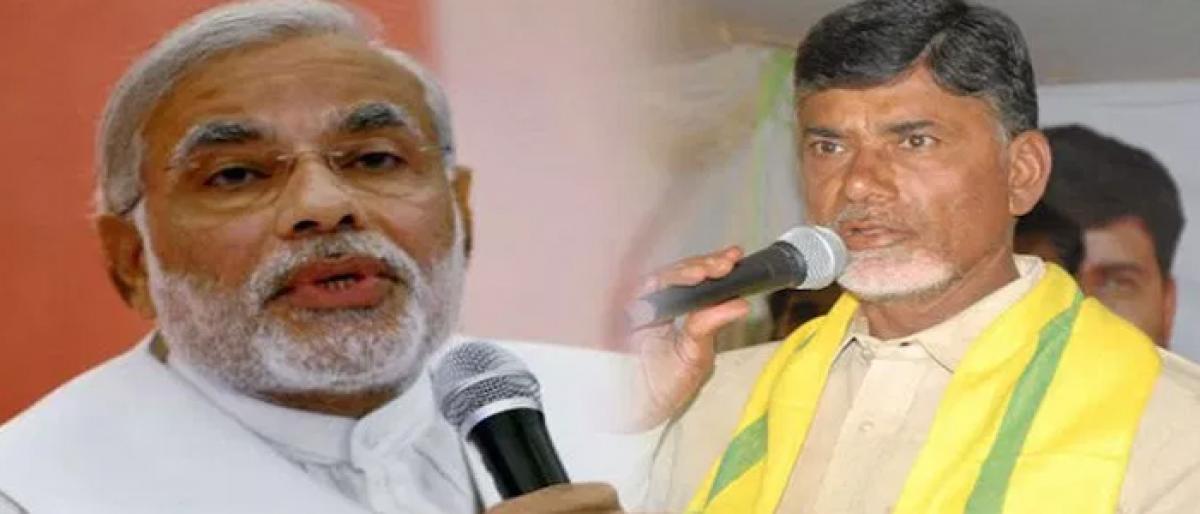 Chandrababu Naidu come down heavily on Modi