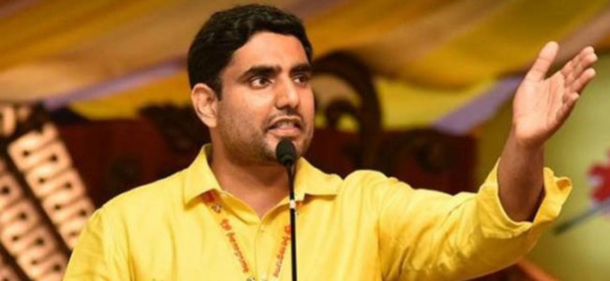 Lokesh Asks AP People Not Support Jagan & Pawan