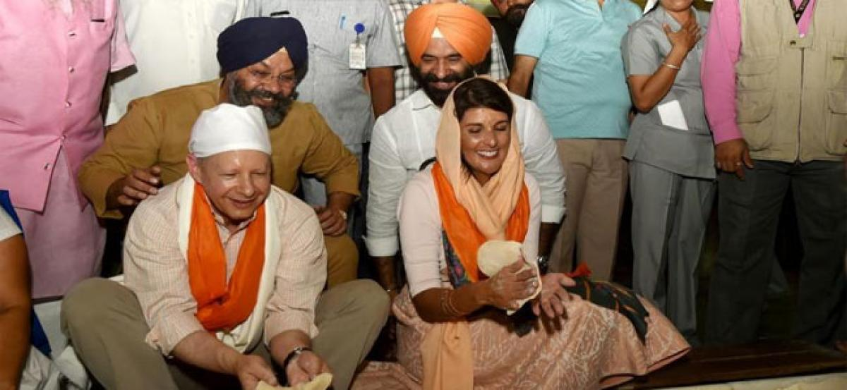 Nikki Haley visits India, gurudwara committee asks her about 52 Indians held in US