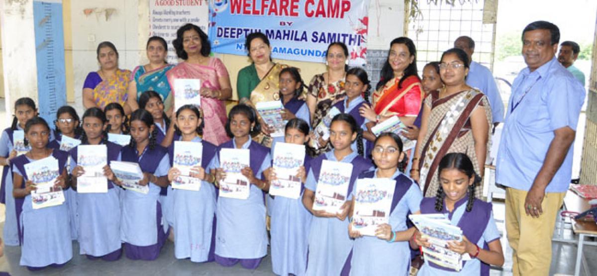 Deepthi Mahila Samithi distributes notebooks