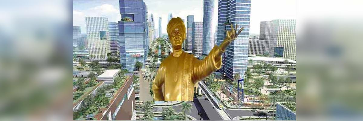 Andhra Pradesh government  to construct 60-ft NTR statue in Amaravati