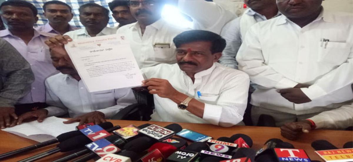 Karanam Prahlada Rao resigns as BJP district chief