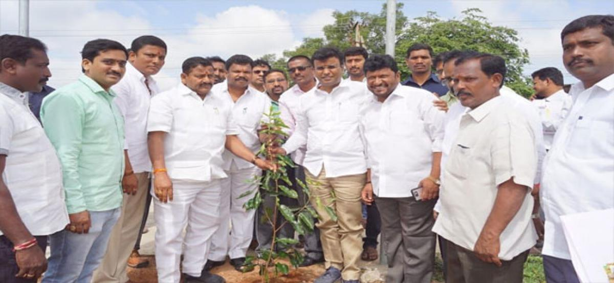 Vivekanand inspects park work