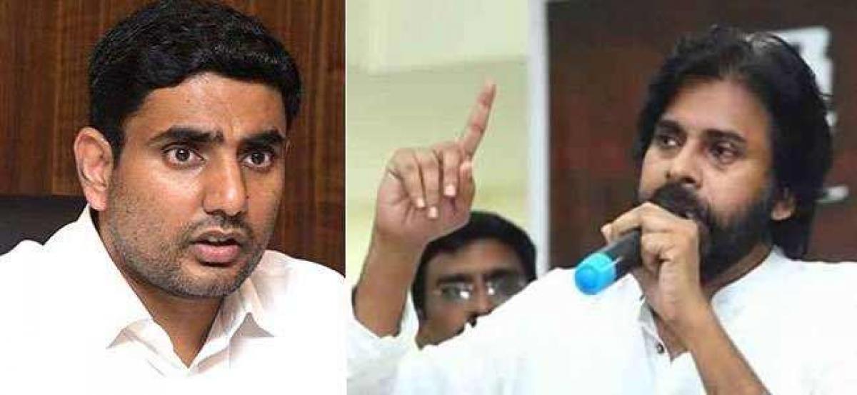 Lokesh Throws Big Challenge To Pawan