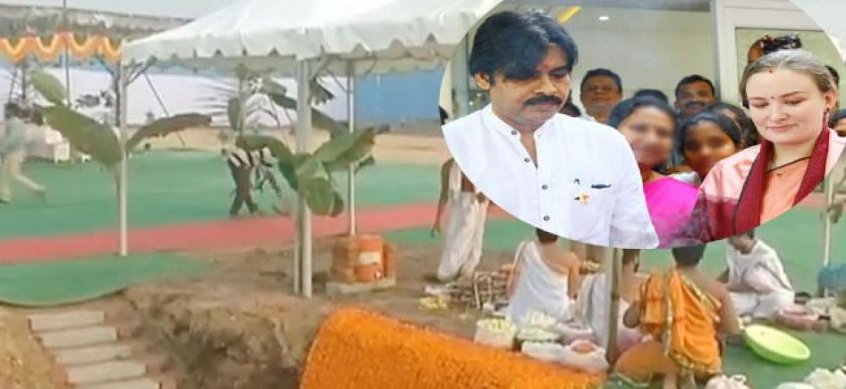 Ground-breaking ceremony for Pawan Kalyans new house