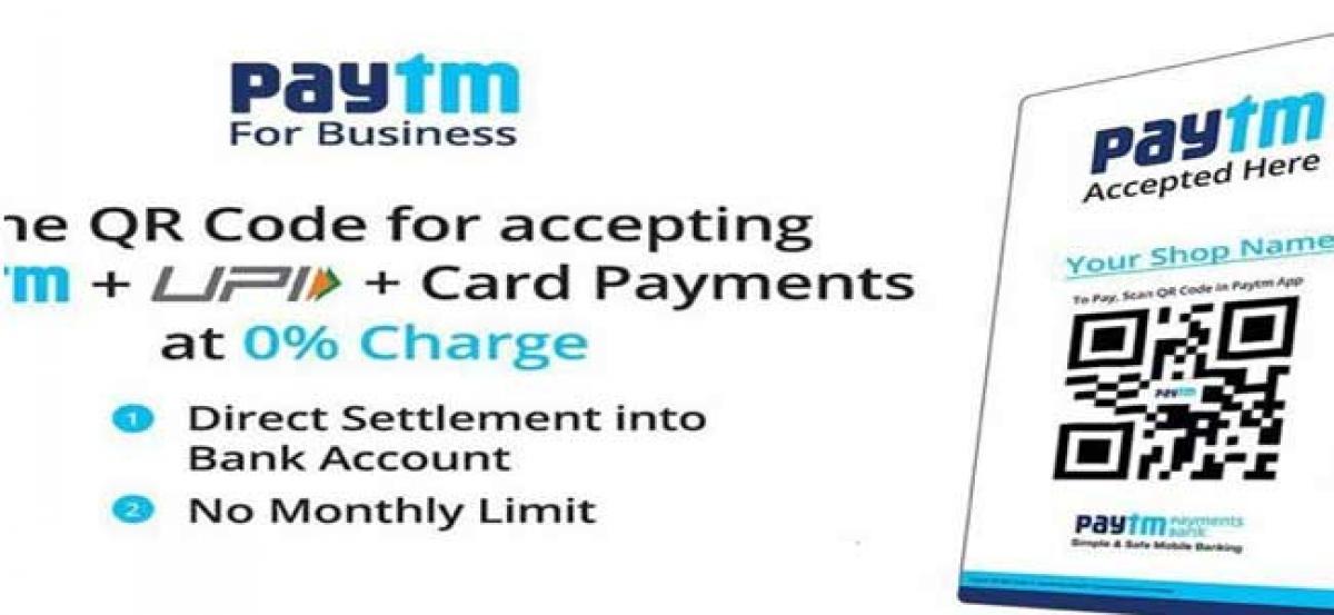 Paytm QR announces direct payment acceptance into bank accounts