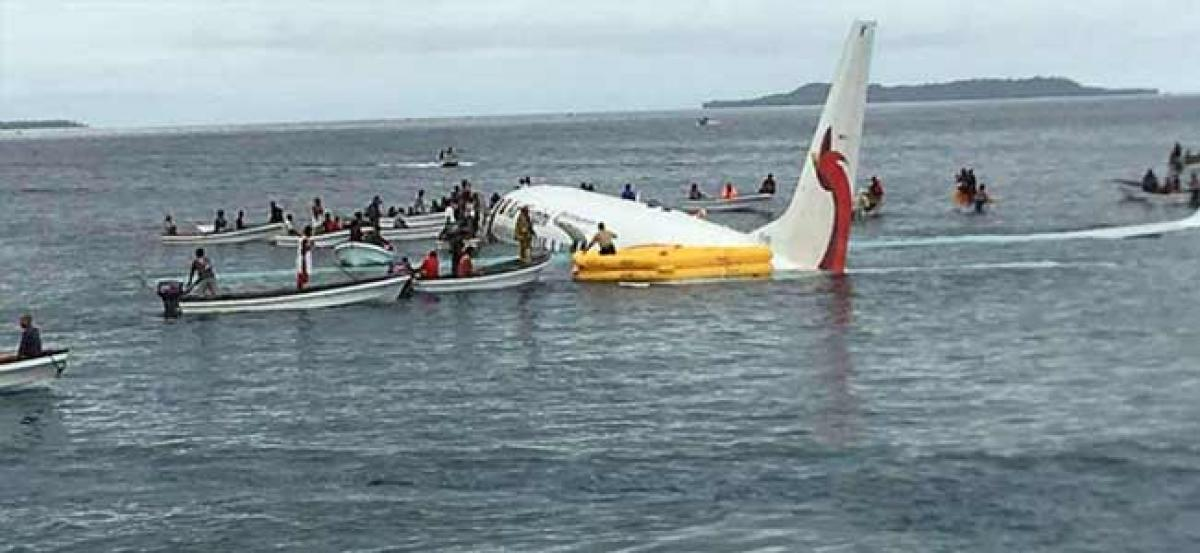 Passengers safe after Air Niugini flight crashes into sea in Micronesia