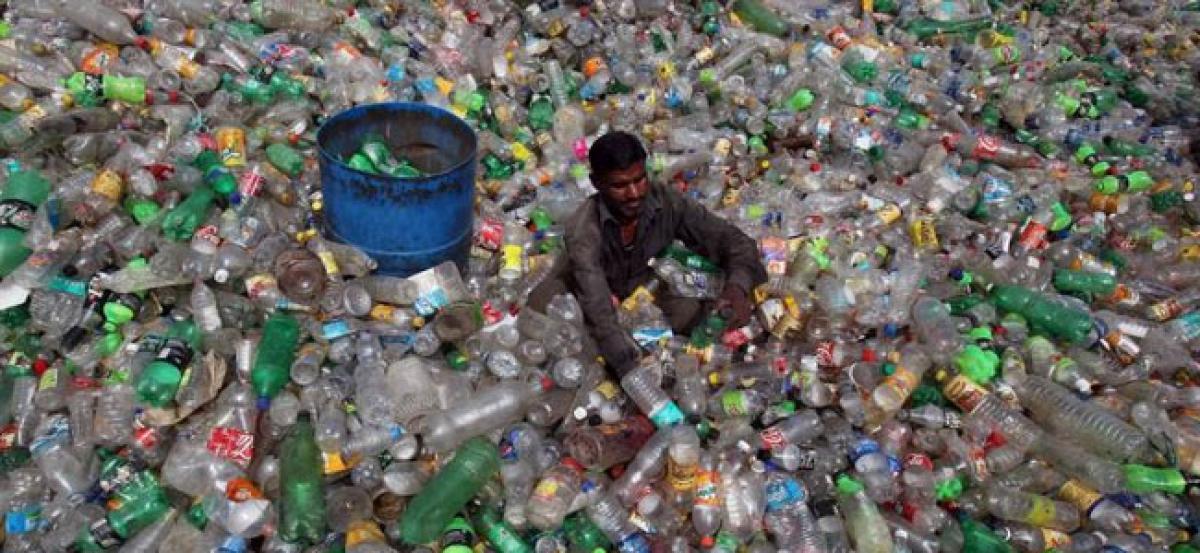 Awareness meet on plastic held in Rajendranagar circle
