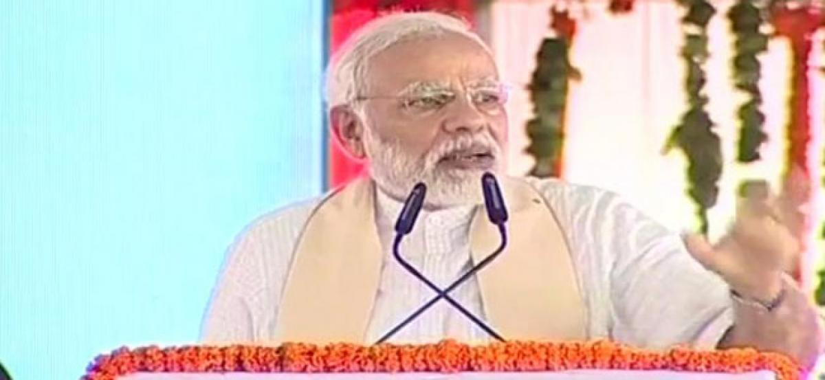 PM Modi in UP: Previous governments neglected people, delayed key projects