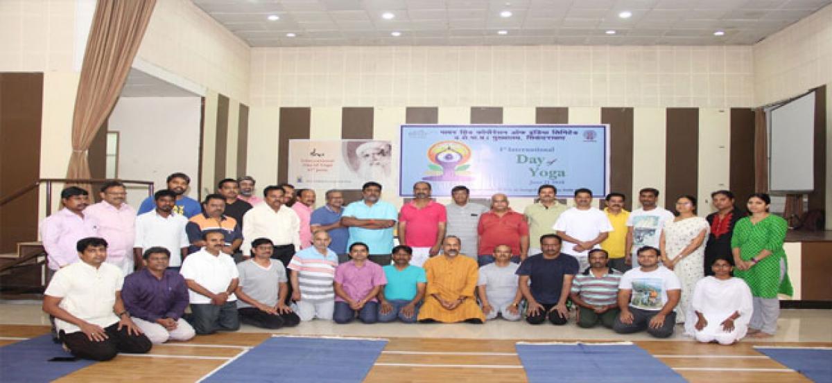 International Yoga Day celebrated