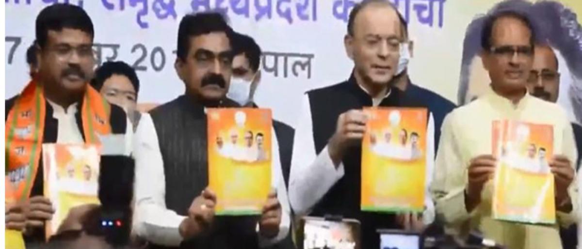 Jobs, farmers' welfare, women safety on BJP's manifesto for Madhya Pradesh