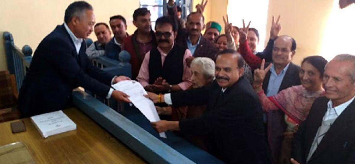 Billionaire files nomination for Himachal Pradesh Polls