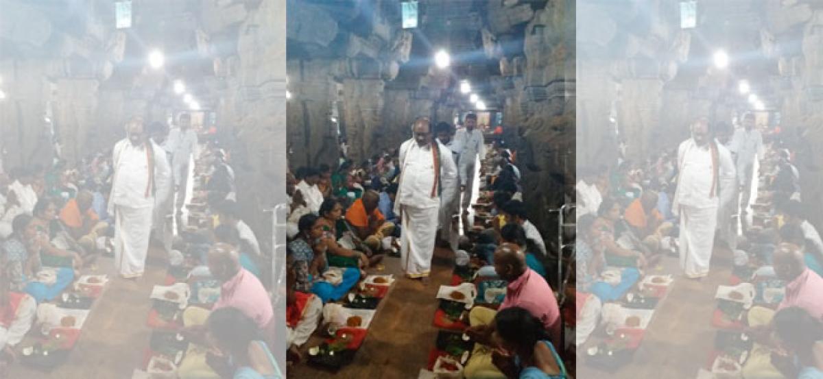 Srikalahasti temple receives 63.75L revenue in one day