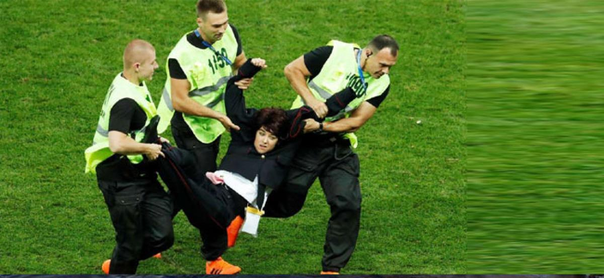 Pussy Riot protesters who gatecrashed FIFA World Cup final jailed for 15 days