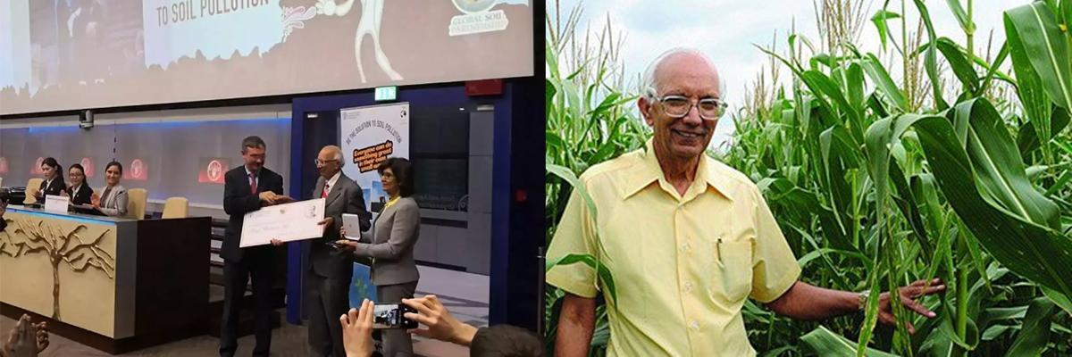Professor Rattan Lal honoured with Glinka World Soil Prize 2018