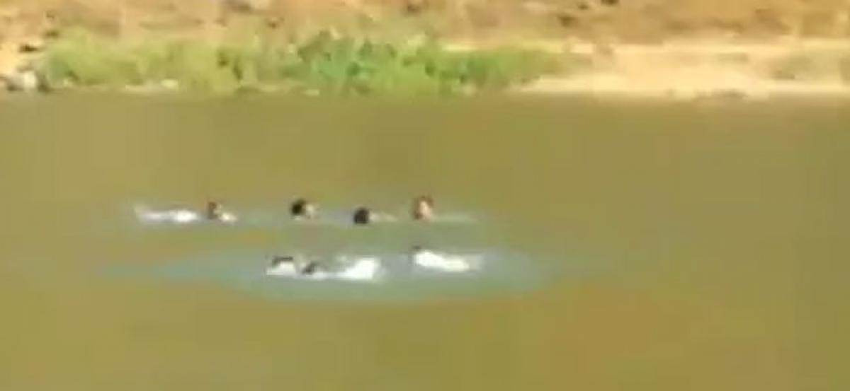 Upset with wife, man pushes three kids into river in Chittoor