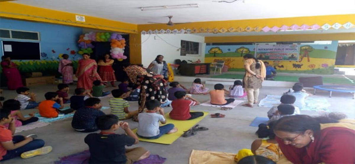 Rockspire Public School celebrates Yoga Day