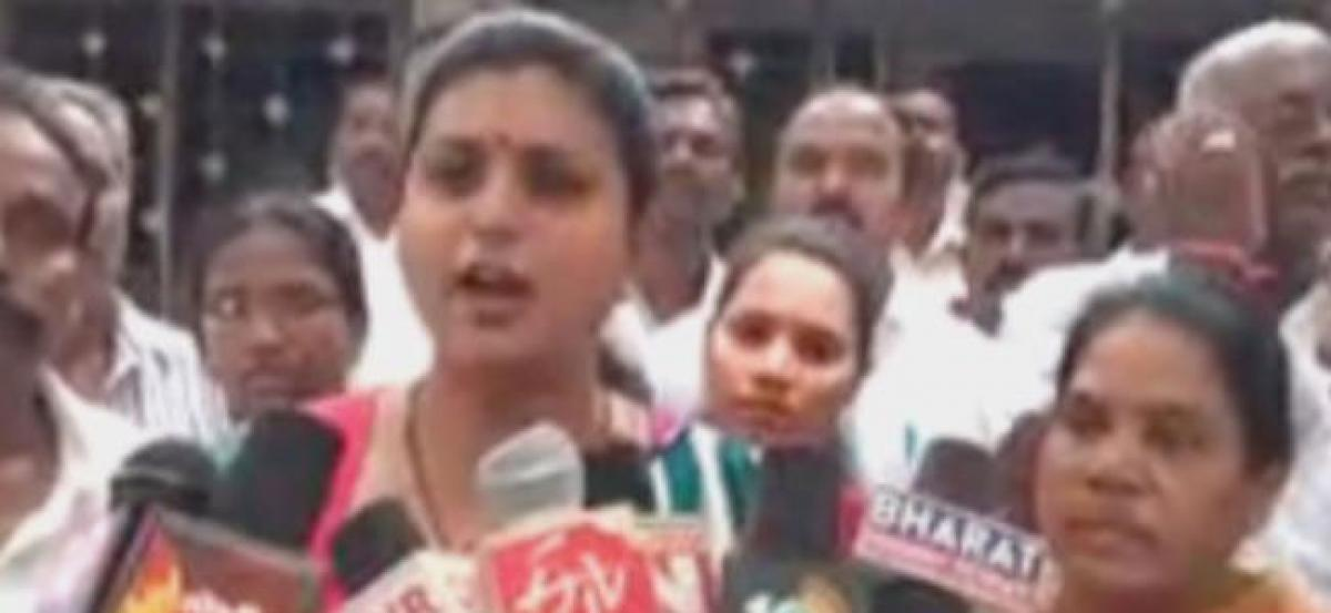 TDP workers attack Roja