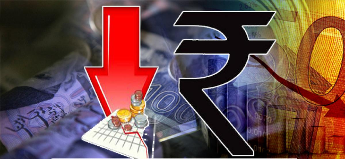 The value of rupee is falling