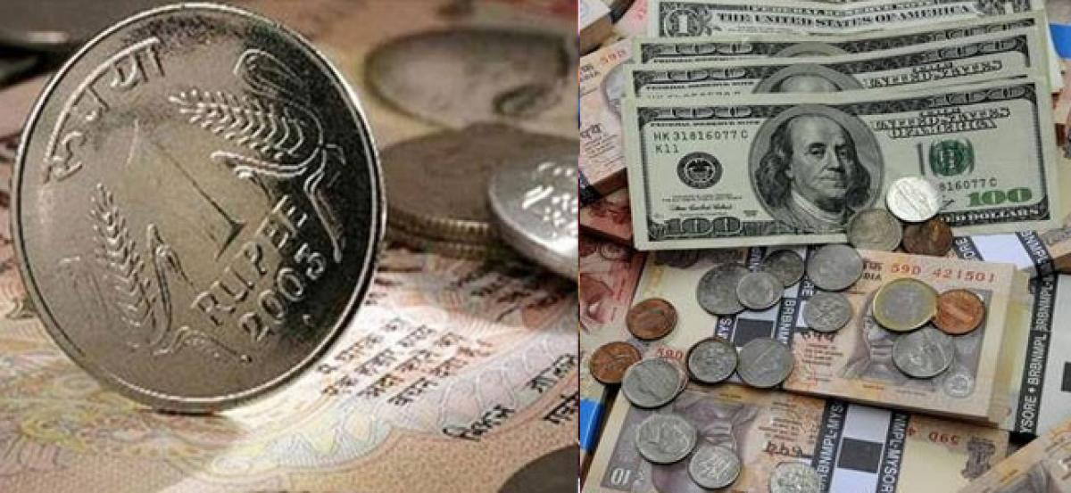 Rupee surges 19 paise against US dollar