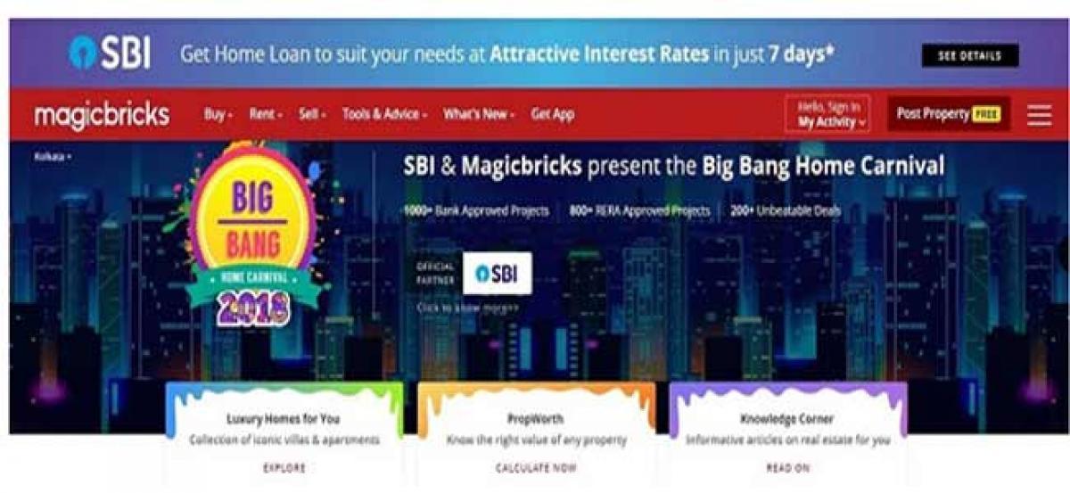 16000 plus choices in 2nd season of Magicbricks - SBI Big Bang Home Carnival