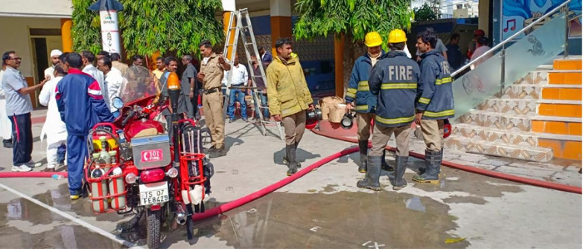 Fire accident at All Saints school in Abids