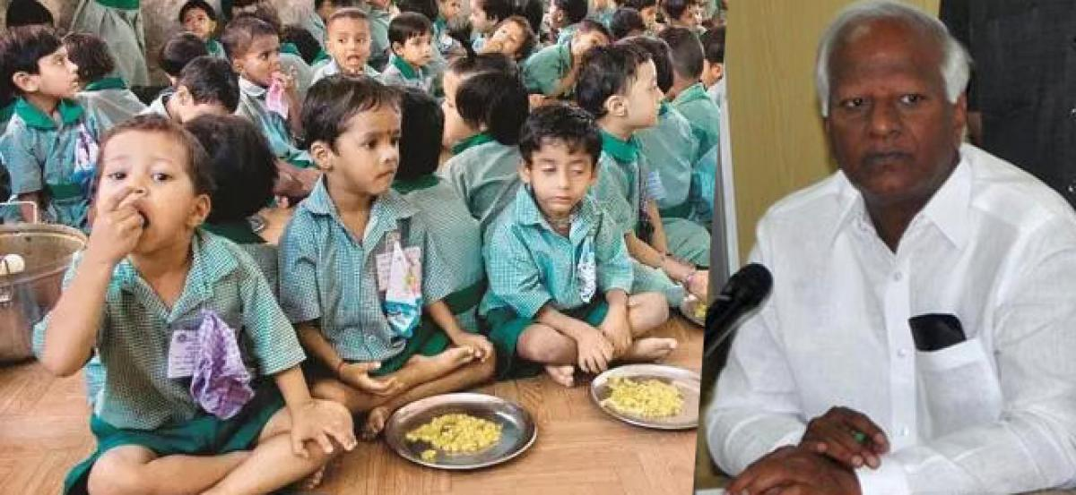 TS Govt plans to provide mid-day meals to all govt educational institutions
