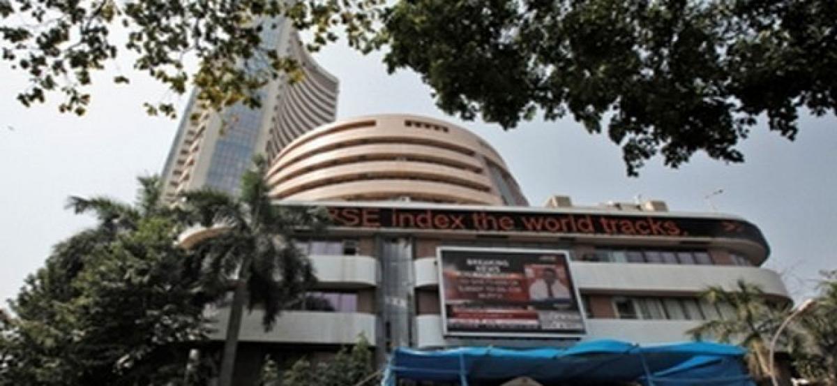 Sensex soars 327.20 points, Nifty at 10,340.40