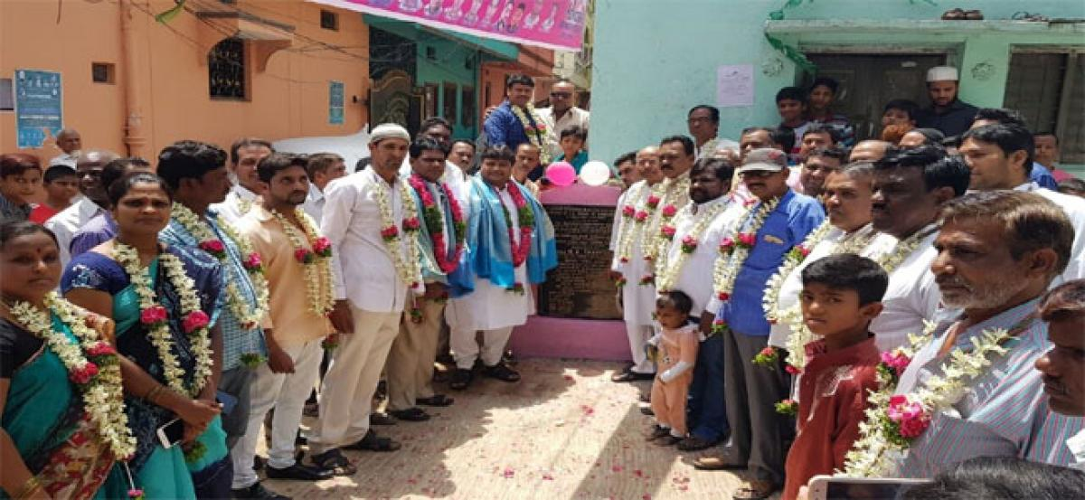Shafi launches CC road works