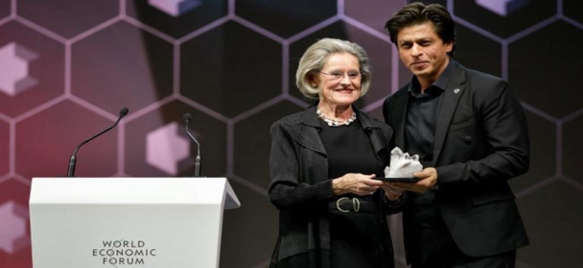Shah Rukh Khan receives Crystal Award in Davos