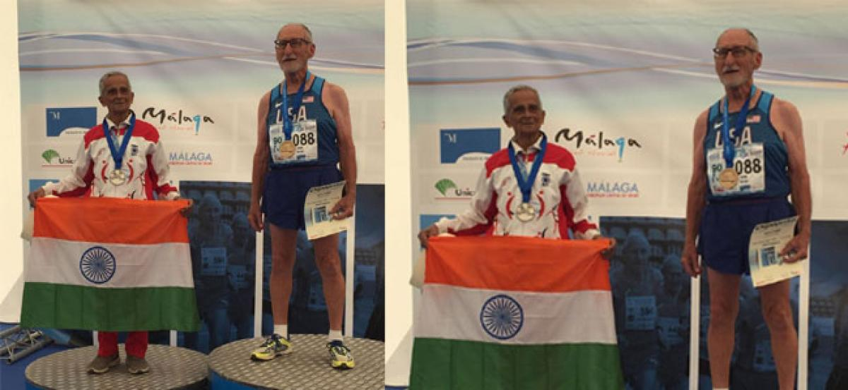 95-year-old wins silver medal at World Athletics Champ