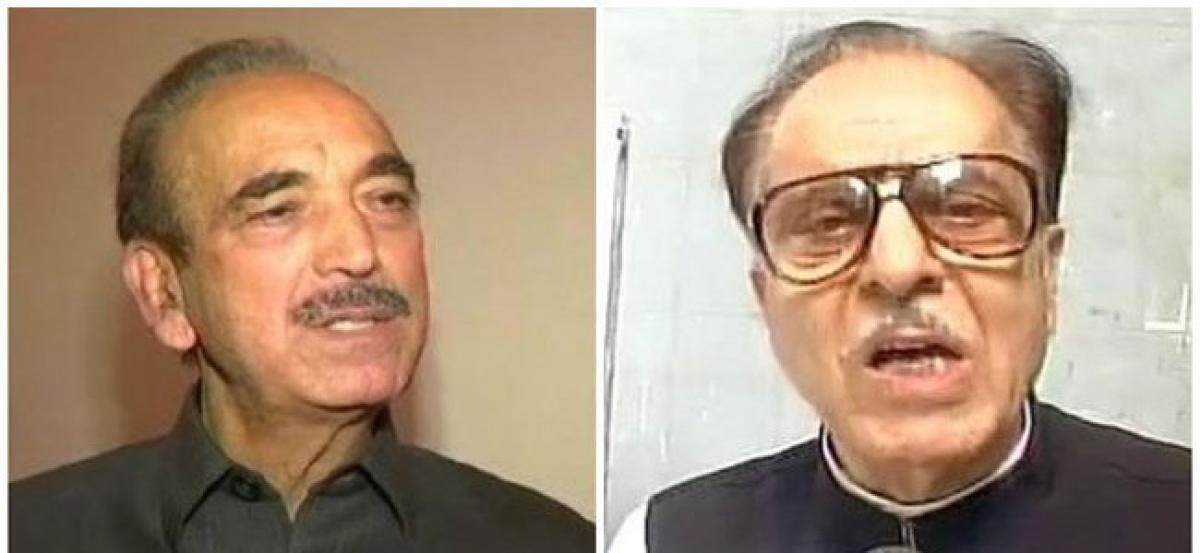 GN Azad, Saifuddin Soz booked for remarks against Army
